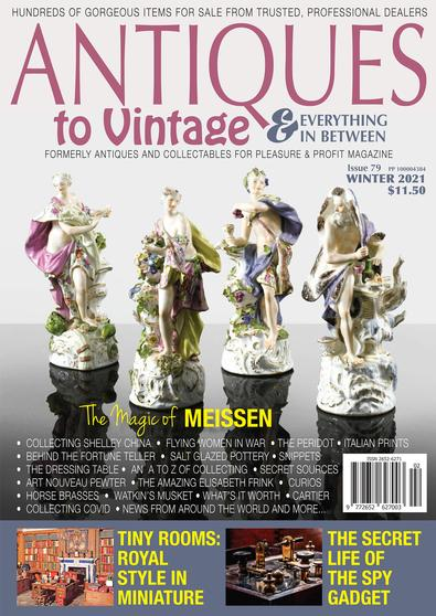 Antiques to Vintage magazine cover