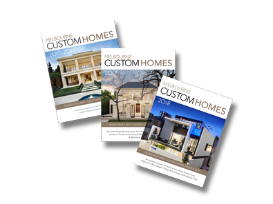 Melbourne Custom Homes x  Last 3 Annual Editions magazine cover
