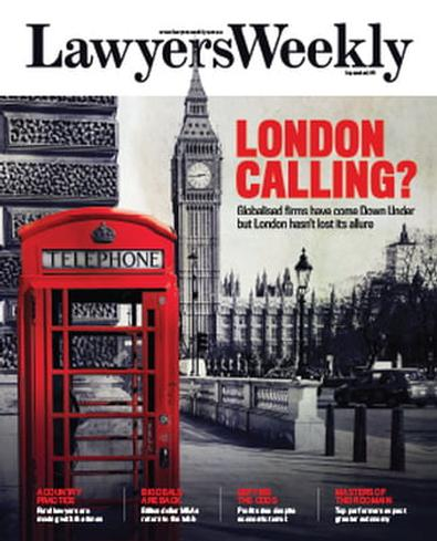 Lawyers Weekly magazine cover