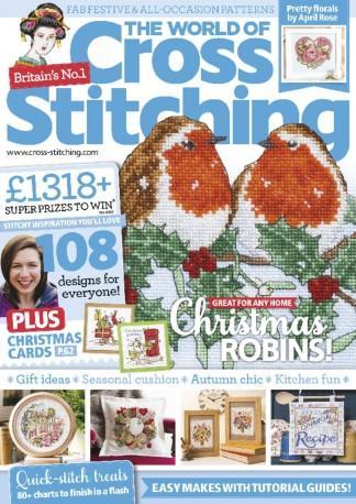 The World of Cross Stitching (UK) magazine cover