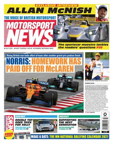 Motorsport News (UK) magazine cover