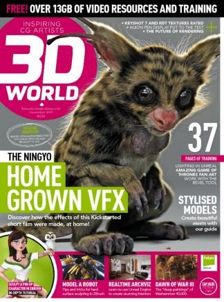 3D World (UK) magazine cover