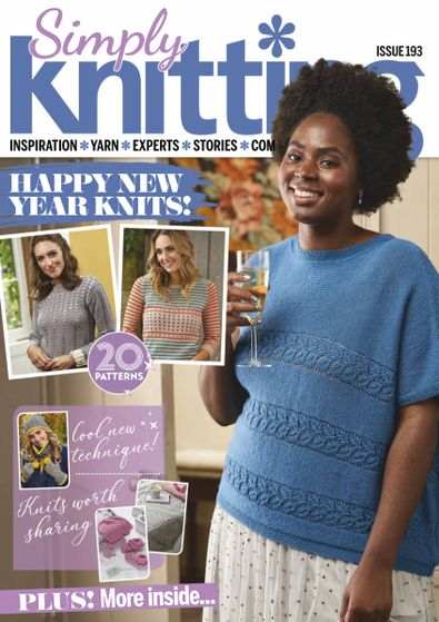 Simply Knitting (UK) magazine cover