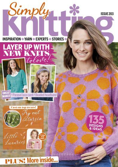 Simply Knitting (UK) magazine cover