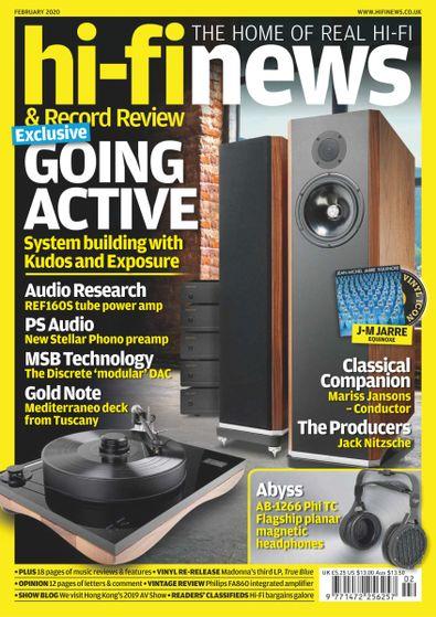 Hi-Fi News (UK) magazine cover