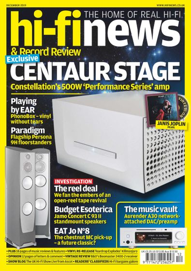 Hi-Fi News (UK) magazine cover