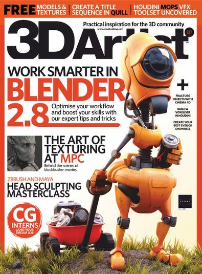 3D Artist (UK) magazine cover