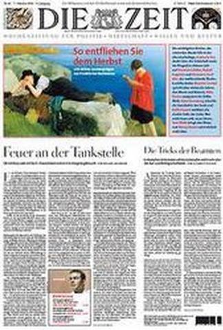 Die Zeit Weekly magazine cover