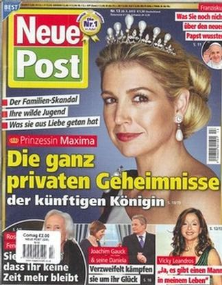 Neue Post magazine cover