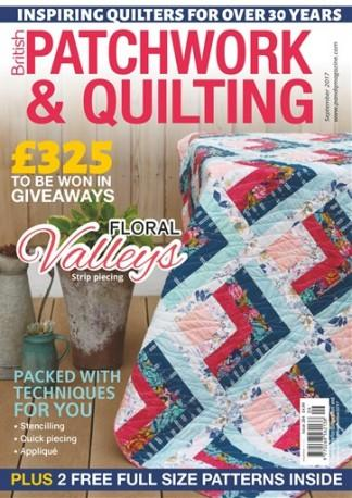 British Patchwork and Quilting (UK) magazine cover