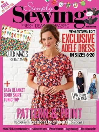 Simply Sewing (UK) magazine cover