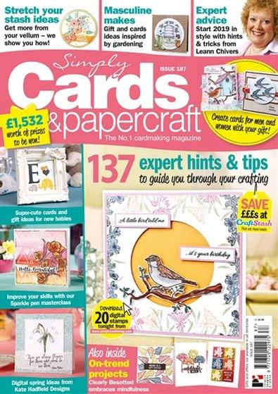 Simply Cards & Papercraft (UK) magazine cover
