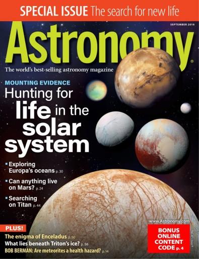 Astronomy (USA) magazine cover