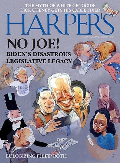 Harpers (USA) magazine cover