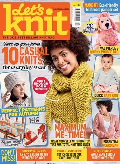 Let's Knit (UK) magazine cover