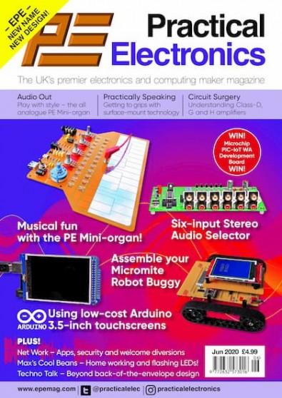 Practical Electronics (UK) magazine cover