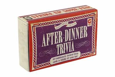Matchbox - After Dinner Trivia cover
