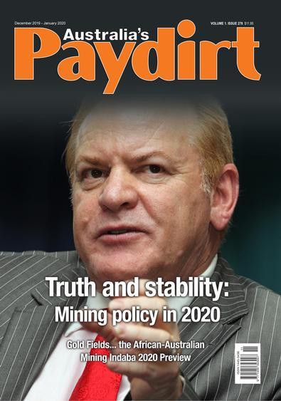 Australia's Paydirt magazine cover