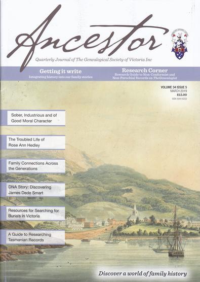 Ancestor magazine cover