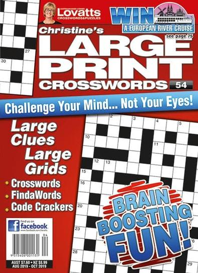 Large Print Crosswords magazine cover