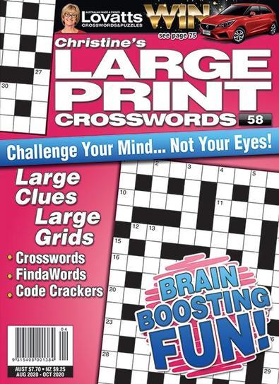 Lovatts Christine's Large Print magazine cover