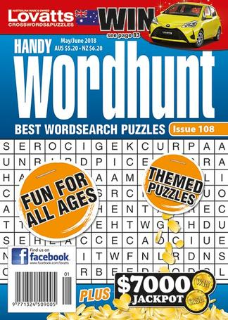 Lovatts Handy Wordhunt magazine cover