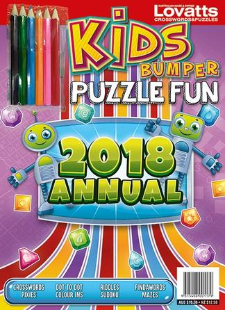 Kids Bumper Puzzle Fun Annual 2018 cover