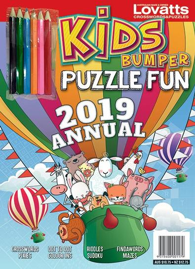 Puzzle Fun for Kids Annual 2019 cover
