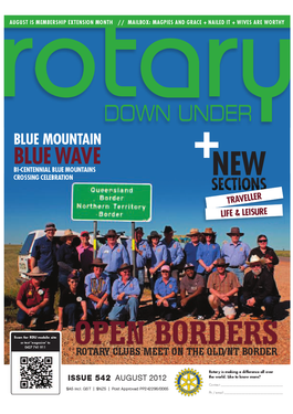Rotary Down Under - Digital magazine cover