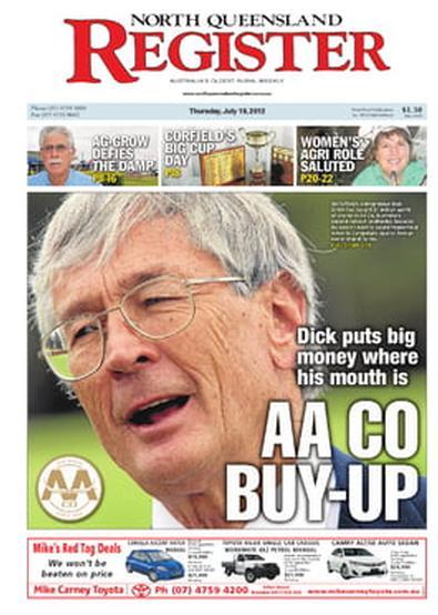 North Queensland Register newspaper cover