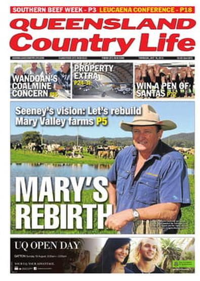 Queensland Country Life newspaper cover