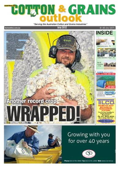 Australian Cotton & Grains Outlook newspaper cover