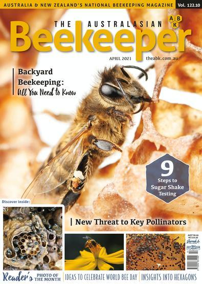 The Australasian Beekeeper magazine cover