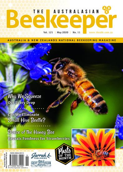 The Australasian Beekeeper magazine cover