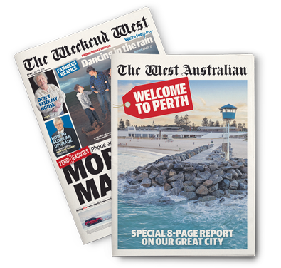 The West Australian newspaper cover