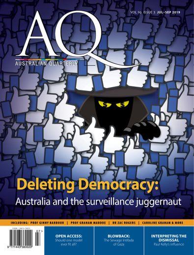 AQ: Australian Quarterly magazine cover