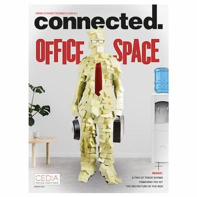 Connected magazine cover
