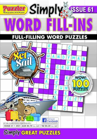 Simply Word Fill-Ins magazine cover
