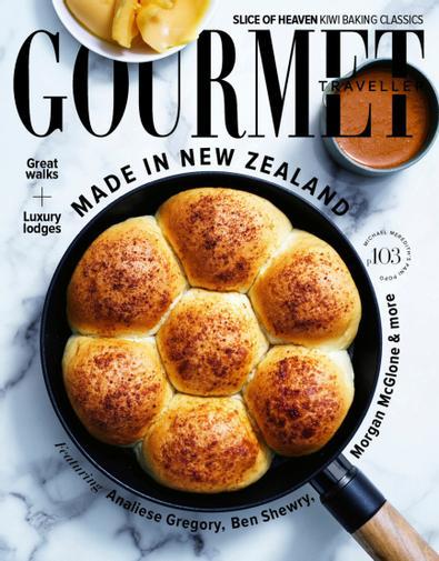 Australian Gourmet Traveller magazine cover