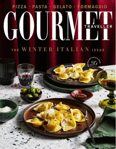 Gourmet Traveller magazine cover
