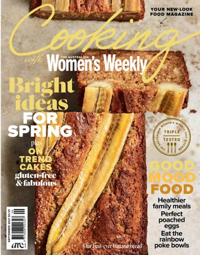 Cooking with The Australian Women's Weekly magazine cover