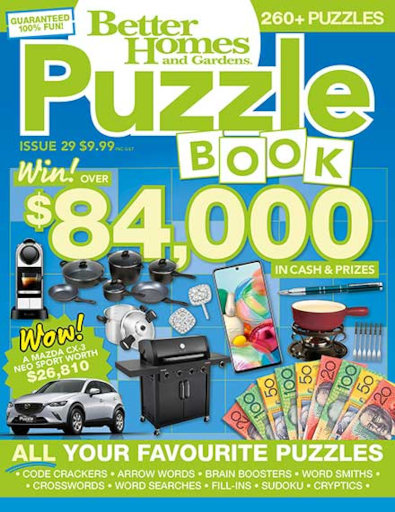 Better Homes and Gardens Puzzle Book magazine cover