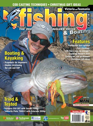 Victoria and Tasmania Fishing Monthly magazine cover