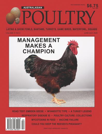 Australasian Poultry magazine cover