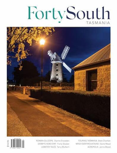 Forty South Tasmania magazine cover