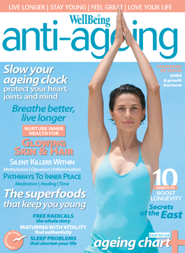 WellBeing Anti-Ageing magazine cover