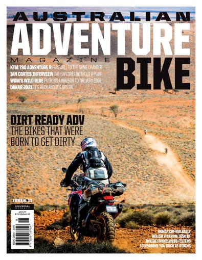 Australian Adventure Bike magazine cover