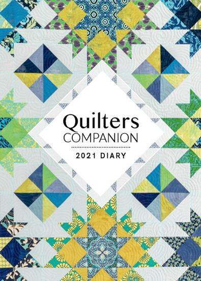 2021 Quilters Companion Diary cover