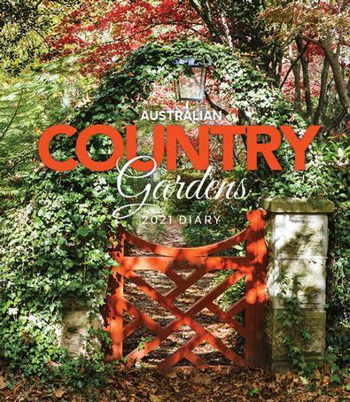 2021 Australian Country Gardens Diary cover