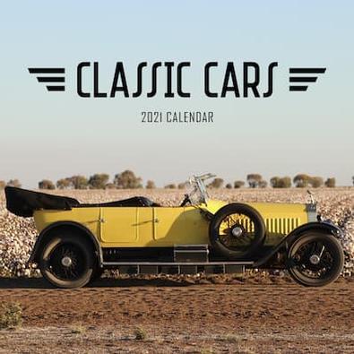 2021 Classic Cars Calendar cover